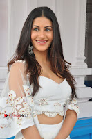 Telugu Actress Amyra Dastur Stills in White Skirt and Blouse at Anandi Indira Production LLP Production no 1 Opening  0061.JPG