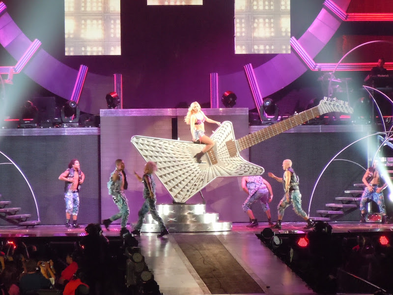 Britney Spears giant guitar Femme Fatale