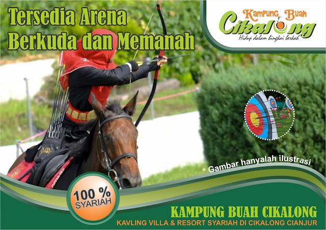 Fasilitas arena berkuda  dan memanah di Kampung Buah Cikalong