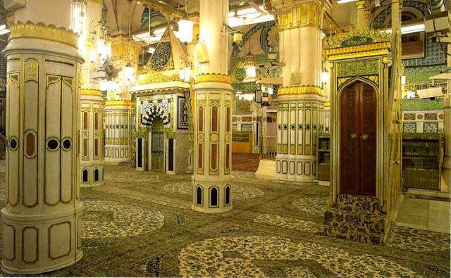 Riadul Jannah and Mehrab of Masjid Ea Nabwi