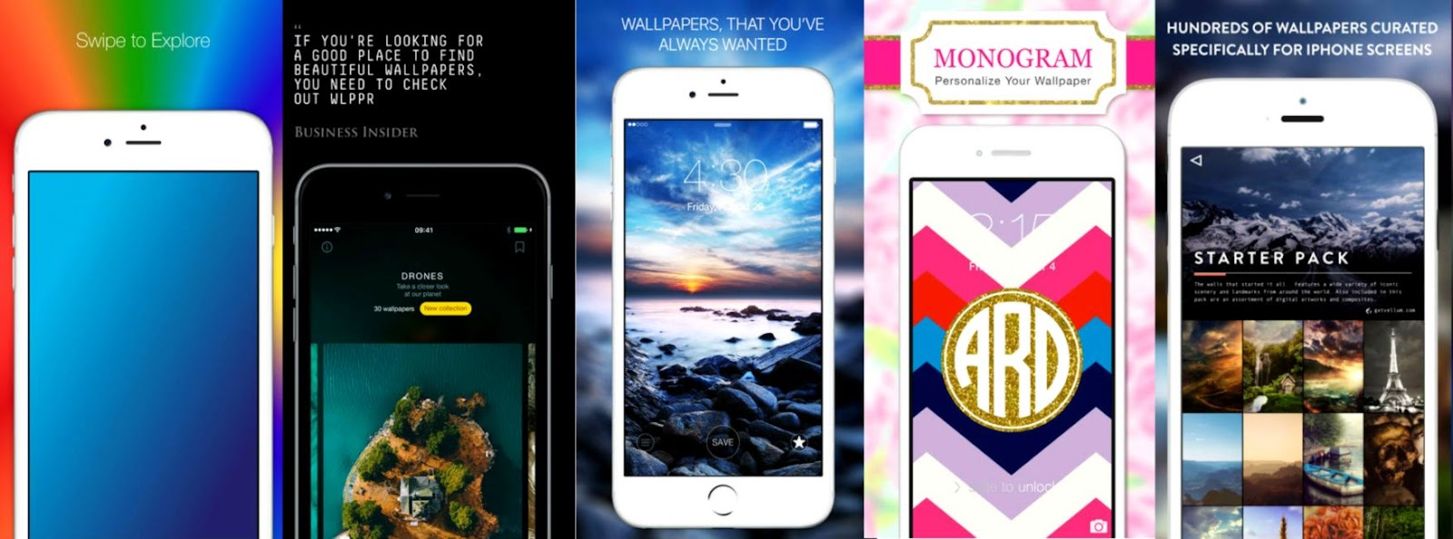 Best Five Free Wallpaper iOS iOS 10 Apps iPhone iPad iPod