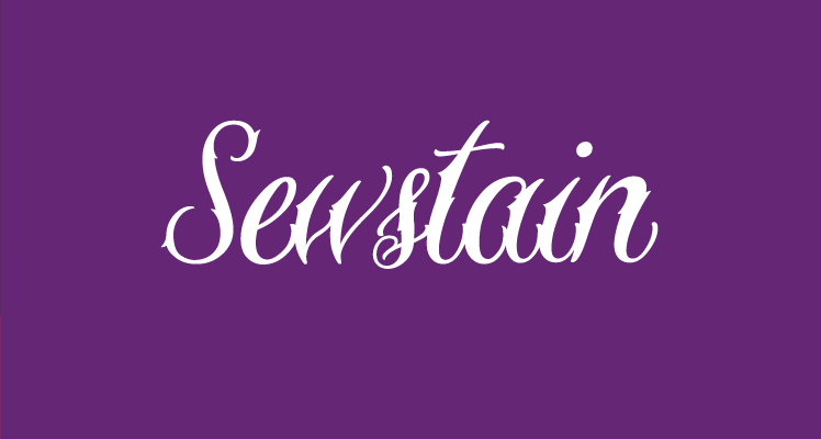 Sewstain free font preview