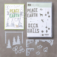 Stampin' Up! Carols of Christmas CLEAR Mount Stamp Set & Card Front Builder Dies Bundle from Mitosu Crafts UK Online Shop