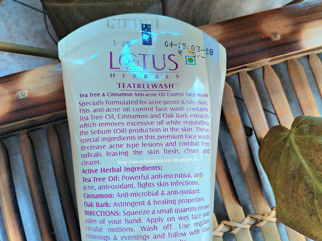 Lotus Herbals Tea Tree Face Wash for oily skin:Review