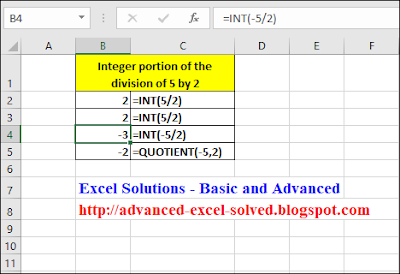 INT Function & QUOTIENT Function
