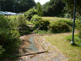 Derelict Miniature Golf on Exeter Road in Bournemouth, Dorset