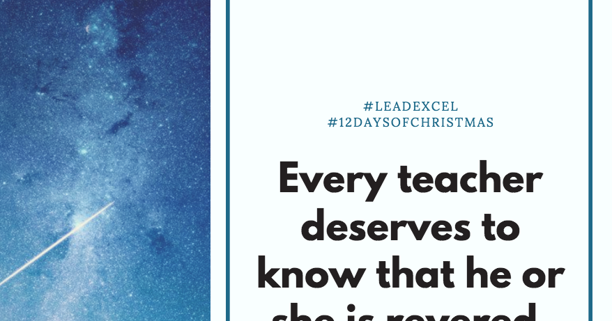 LeadLearner: The Real Reason behind the 12 Days of Christmas for Educators