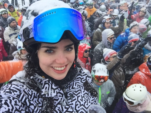 Drinks at La Folie Douce - Skiing at Val Thorens - ski holiday in the French Alps - travel blog