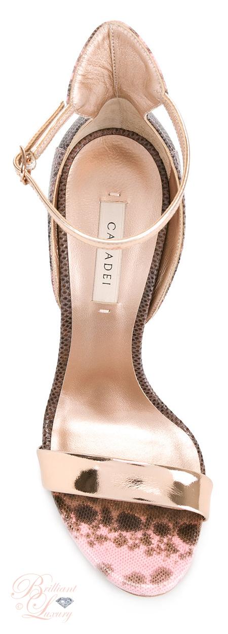 Brilliant Luxury ♦ Casadei Leopard Print Sandals