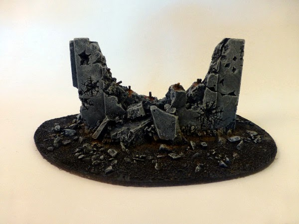 40k terrain - ruined barricade no 4 - back