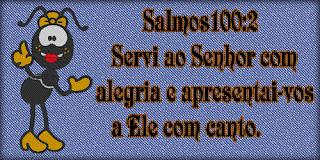 Resultado de imagem para salmos 100 2