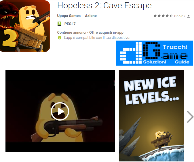 Soluzioni Hopeless 2: Cave Escape di tutti i livelli | Walkthrough guide