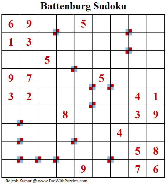 Battenburg Sudoku (Fun With Sudoku #164)