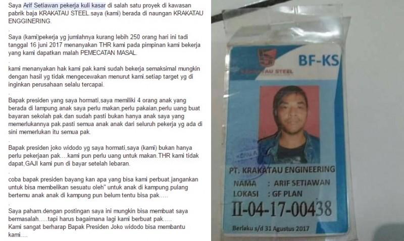 Surat terbuka Arif Setiawan ke Jokowi