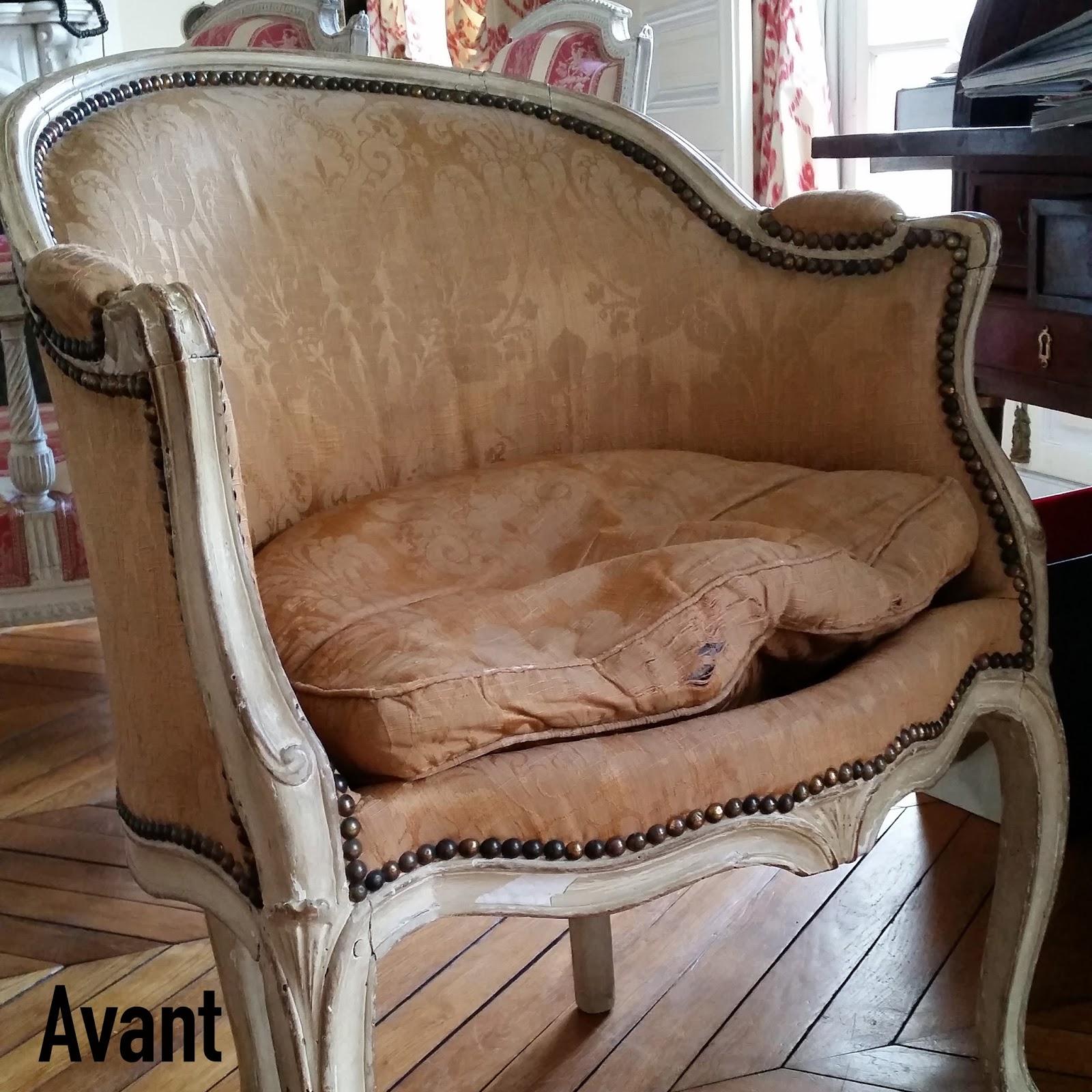 avant apr s fauteuil style r gence atelier velvet artisan tapissier paris 10e. Black Bedroom Furniture Sets. Home Design Ideas