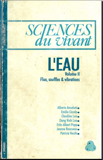 Livre : L'Eau, Volume 2: Flux, souffles & vibrations - Sciences du Vivant