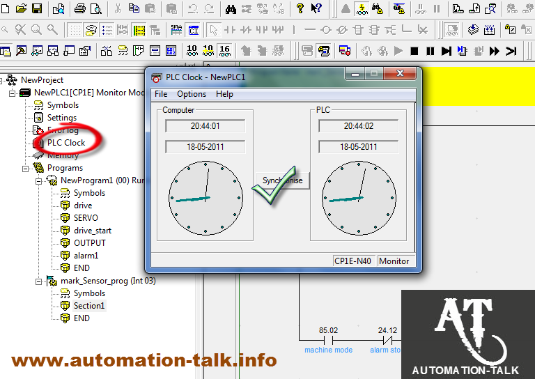 Using PLC Clock Time in Omron PLC Programming ~ Automation-Talk