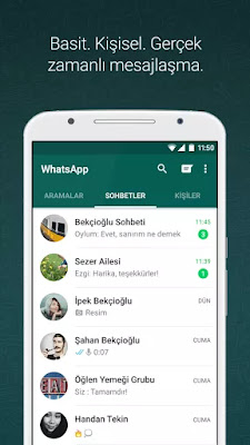 whatsapp messenger apk indir