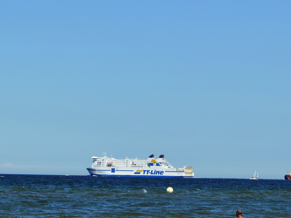 A ferry boat from Warnemuende to sweden
