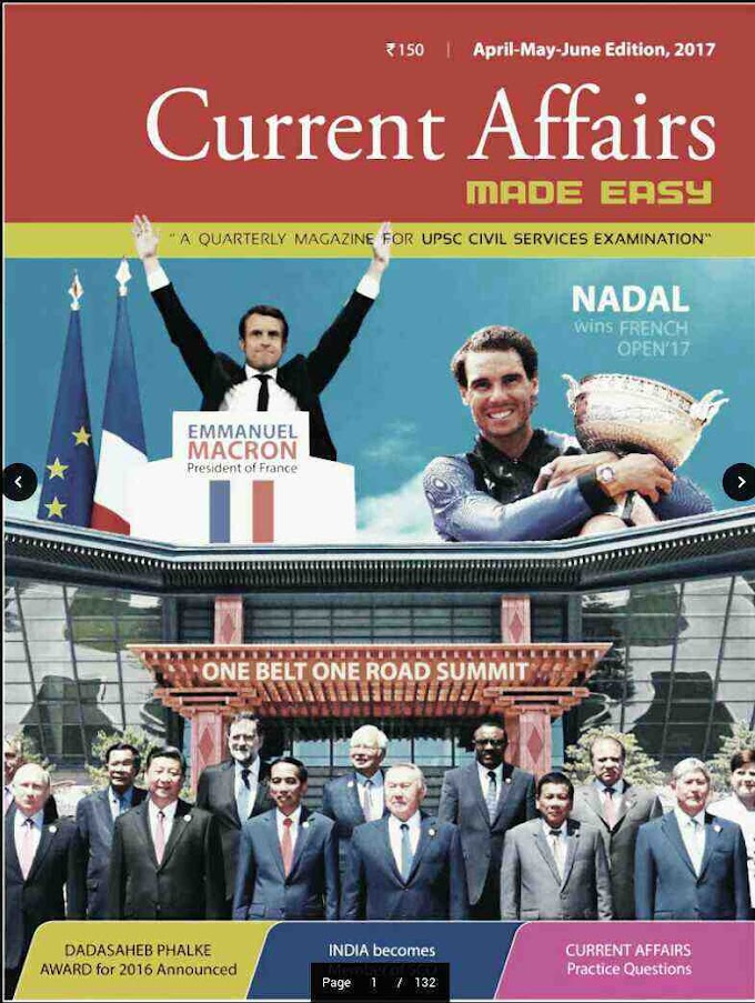 CURRENT AFFAIRS MAGAZINE MADE EASY APR-MAY-JUNE EDITION 2017