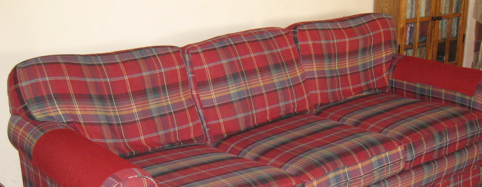 Ikea Linen Chair Covers Used Lift Chairs For Sale Custom Slipcovers By Shelley: Old Plaid Couch