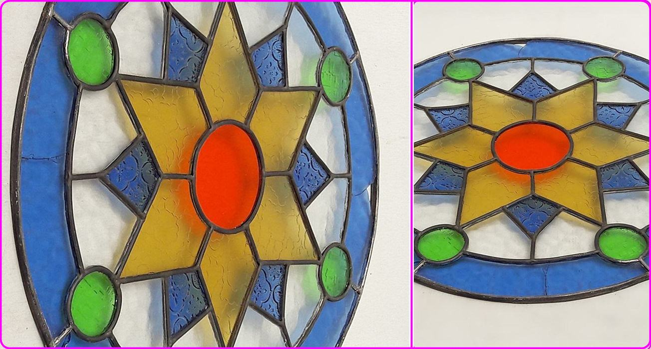 Kaca Warna Warni Studio Antique Stained Glass Jendela Boven Kaca Patri Boven