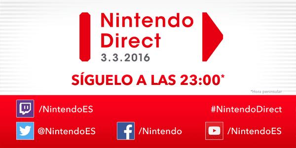 Se anuncia un Nintendo Direct para el 3 de marzo 1