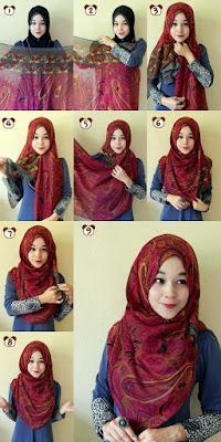 tutorial hijab pashmina ala zoya