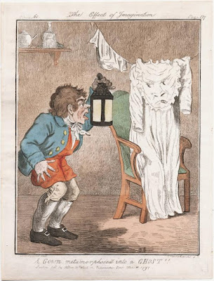 Gillray's Gown Metamorphose'd into a Ghost, 1797