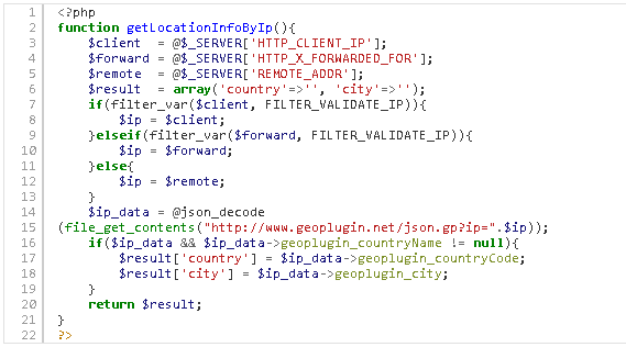 Get country name from ip php / Srt coin login member