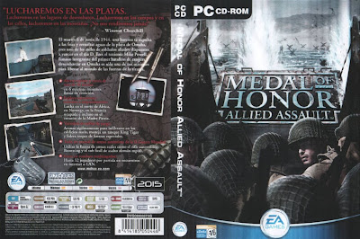 Jogo Medal Of Honor Allied Assault PC DVD Capa