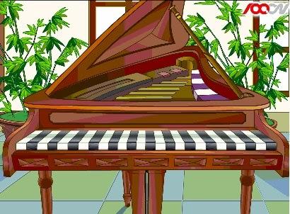 لعبة العزف علي البيانو