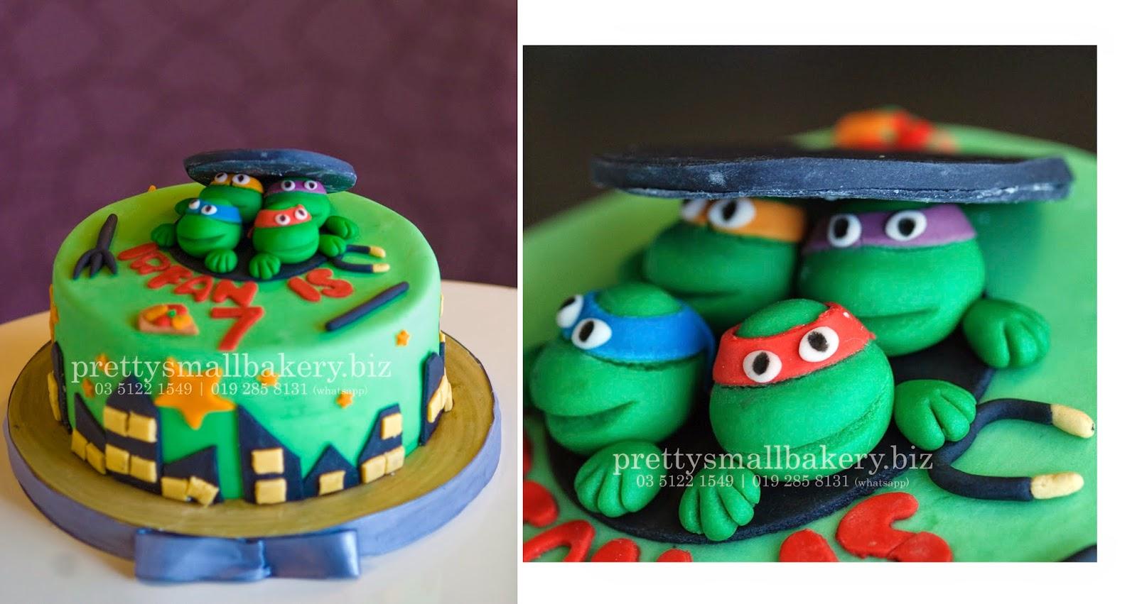 Kek Birthday Ninja Turtle Prettysmallbakery