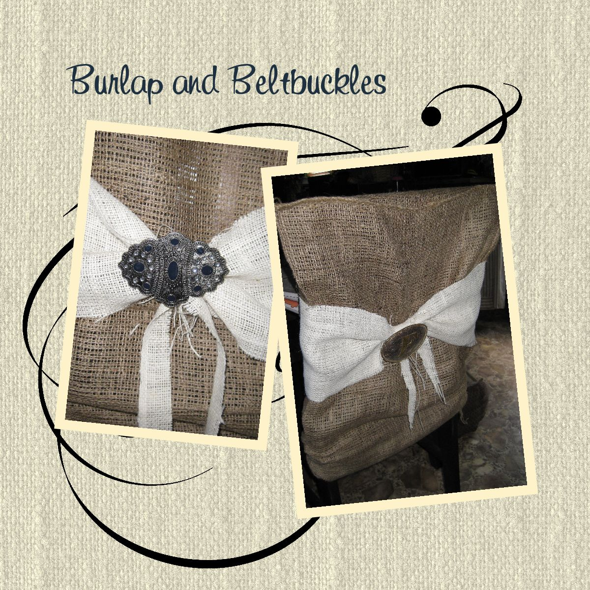 burlap chair covers for folding chairs wicker and table set gypsyfarmgirl beltbuckle
