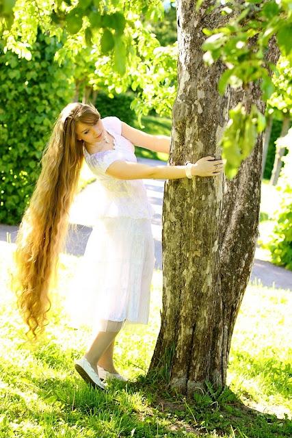 girl woman very long hair