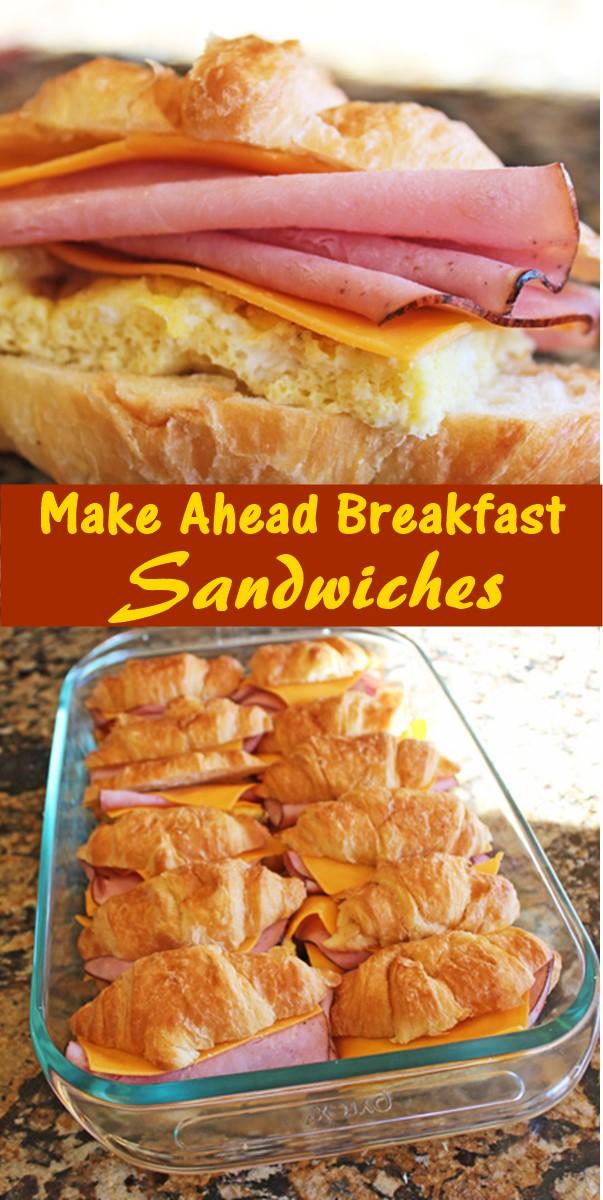 Make Ahead Breakfast Sandwiches #Breakfastrecipes
