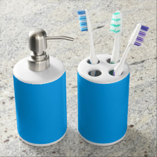 Aqua blue bath set