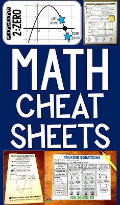 free math help including cheat sheets for algebra and algebra 2