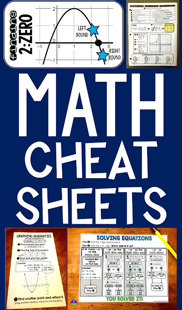 scaffolded math and science math cheat sheets. Black Bedroom Furniture Sets. Home Design Ideas