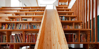 Mystery fanfare library staircase with slide - Staircases with integrated bookshelves ...