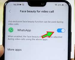video call face beauty vivo