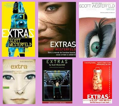 portadas del libro distópico juvenil Extras, de Scott Westerfeld