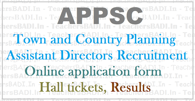 APPSC Town Country Planning Assistant Directors, Recruitment,Apply Online