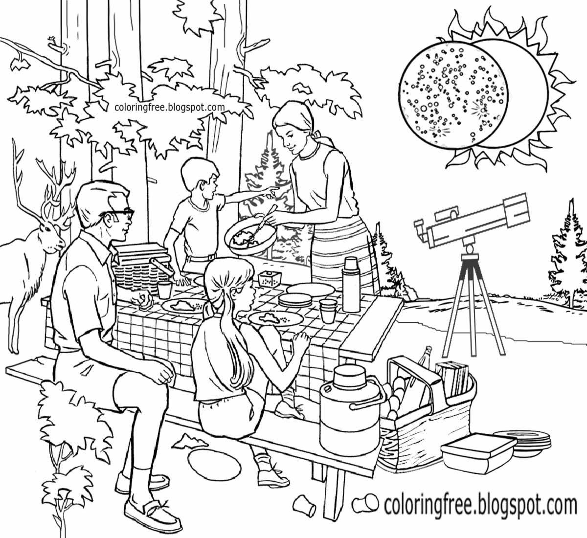 solar eclipse coloring pages-#12