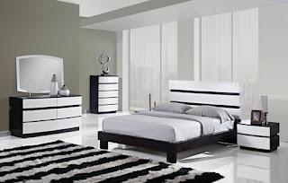 dormitorio moderno gris