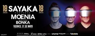 Concierto de MOENIA y BONKA en Bogotá | SAYAKA 18 AÑOS