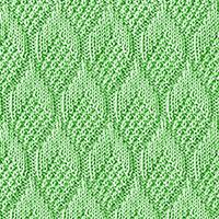 Knit Purl 11: Pine Cone | Knitting Stitch Patterns.