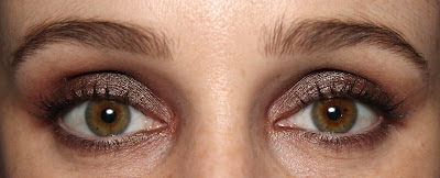 Colourpop duo chrome matte eyeshadow Mittens Partridge swatch eye look