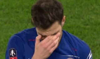 Cesc Fabregas burst out in tears on his farewell Chelsea appearance