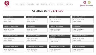 Cese de emisión de Tu Empleo - Canal Extremadura